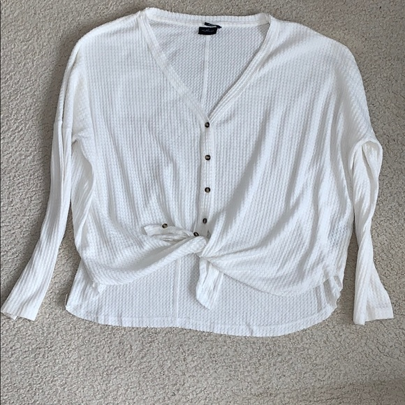 Urban Outfitters Tops - White Button Down Thermal